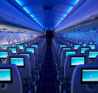 Image des sièges de l'avion