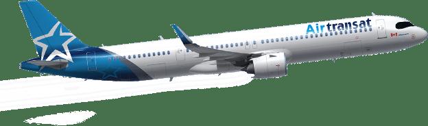 Vue latérale de l'avion