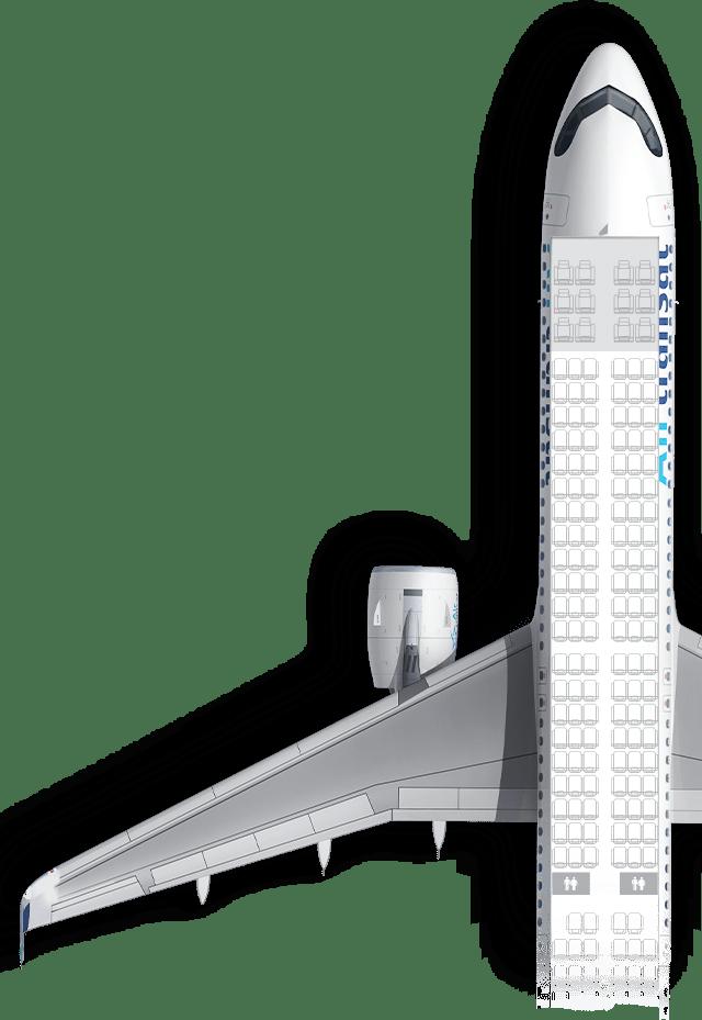 Vue du dessus de l'avion
